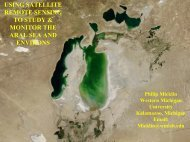 using satellite remote sensing to study & monitor the aral sea and ...