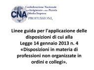Linee Guida Associazioni Professionali - Cna