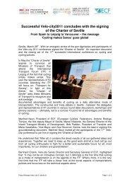 Download press releases - Velo-City 2011