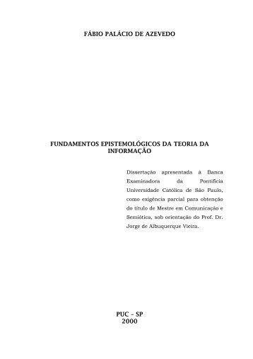 fábio palácio de azevedo fundamentos epistemológicos da teoria da ...