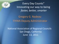 """ Every Day Counts"" Innovating our way to being faster ... - NARC"