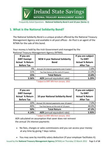 1. What is the National Solidarity Bond? - Terms and Conditions