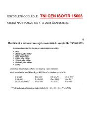 Informativní rozdělení ocelí dle TN CEN ISO/TR 15608