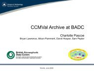 PDF (CCMVal Data at the BADC)