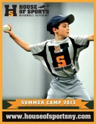 summer baseball camp overview - House Of Sports