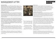 Les Management Letter her! - Beerenberg