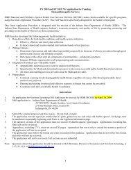 Hemoglobinopathy FY 2010 - 2011 GAP 2-24-2009 - State of Indiana