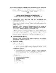 CAU - Ministerio de Desarrollo e Inclusión Social