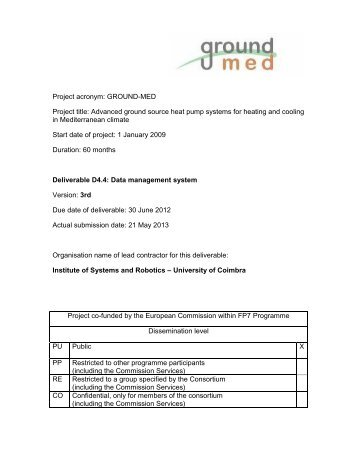 Project acronym: GROUND-MED Project title: Advanced ground ...