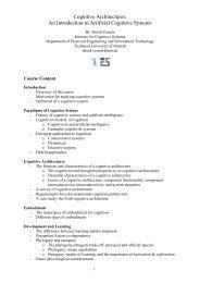 A Short Course on Cognitive Systems - David Vernon