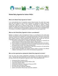 Global Dairy Agenda for Action FAQ's - Dairy Sustainability Website