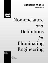 Nomenclature and Definitions for Illuminating Engineering