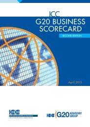 G20 BUSINESS SCORECARD - ICC India