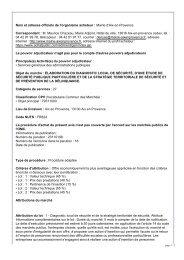 élaboration du diagnostic local de securite, d'une ... - Aix-en-Provence