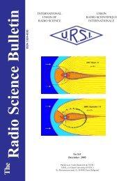 Radio Science Bulletin 315 - December 2005 - URSI
