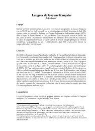 Langues de Guyane française