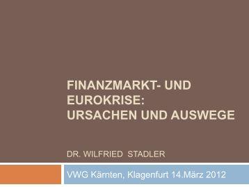 finanzmarkt- und eurokrise: ursachen und auswege