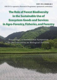 The Role of Forest Biodiversity in the Sustainable Use of Ecosystem ...