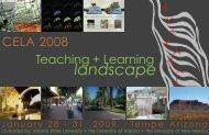 landscape - Council of Educators in Landscape Architecture