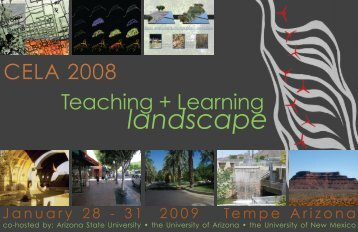 landscape - Council of Educators in Landscape Architecture