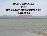 SPANISH FOR WARRANT OFFICERS AND BAILIFFS