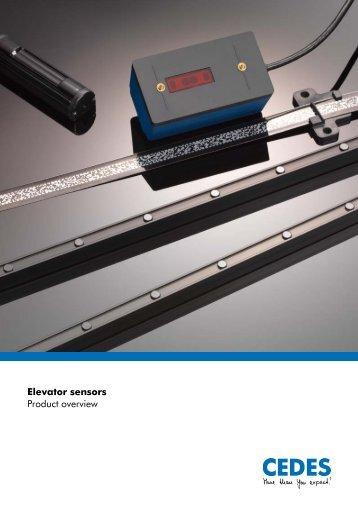 Elevator sensors Product overview - Cedes.com