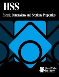 Metric Dimensions and Sections Properties - the Steel Tube Institute