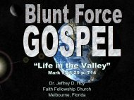 """Life in the Valley"" - Faith Fellowship Church"