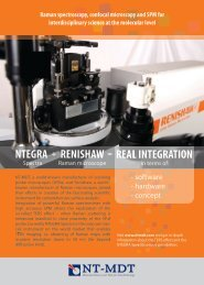 N-'TEGRA + RENISHAW = llEAL INTEGRATION - NT-MDT