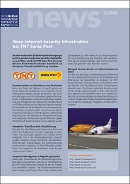Neue Internet Security Infrastruktur bei TNT Swiss ... - terreActive AG