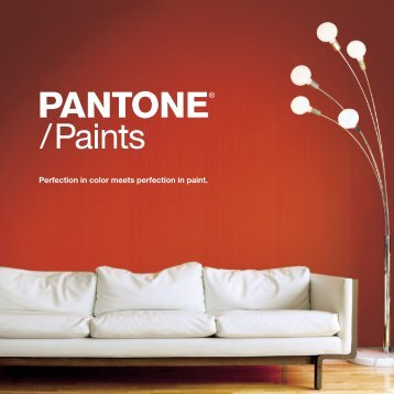 Perfection in color meets perfection in paint. - Pantone
