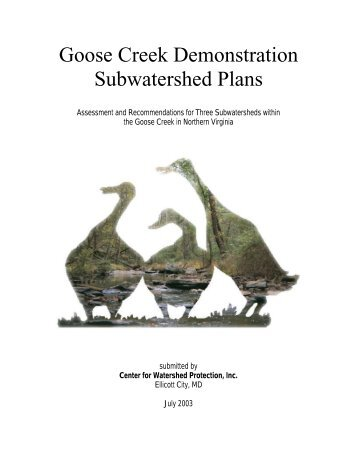 Goose Creek Demonstration Subwatershed Plans - Piedmont ...