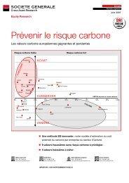Prévenir le risque carbone - Inrate