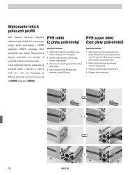 PVS lekki (z płytą pośrednią) Wykonanie lekich połączeń profili PVS ...