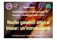 Dipartimento di fisica Università di Perugia Osservatori astronomici ...