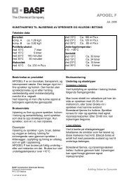 Datablad - BASF Construction Chemicals