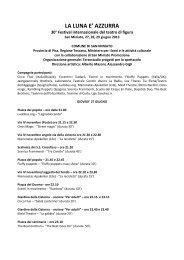La Luna è azzurra - Programma 2013 - Terzostudio