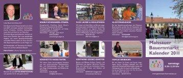 Maissauer Bauernmarkt Kalender 2011