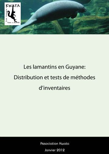 Les lamantins en Guyane: Distribution et tests de ... - CAR-SPAW-RAC