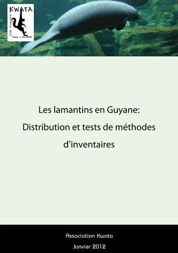 Les lamantins en Guyane: Distribution et tests de ... - CAR-SPAW-RAC