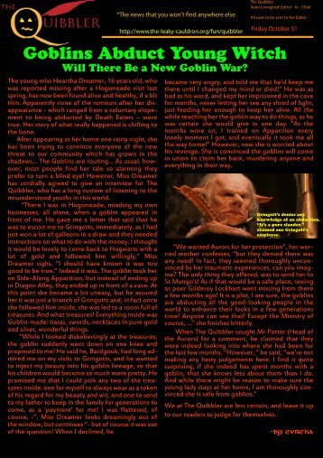 PDF format via this link - The Leaky Cauldron