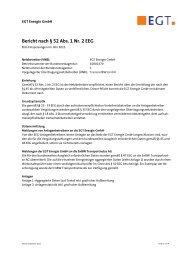 Bericht nach § 52 Abs. 1 Nr. 2 EEG - EGT Energie