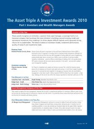The Asset Triple A Investment Awards 2010