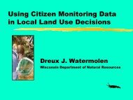 Using Citizen Monitoring Data in Local Land Use Decisions