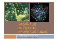informális tudás - MELLearN