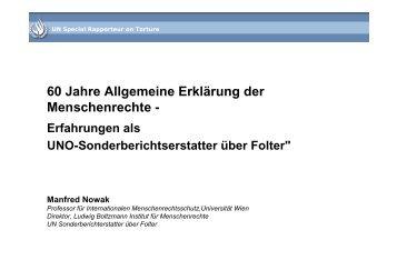 60 Jahre Allgemeine Erklärung der Menschenrechte - - Ludwig ...
