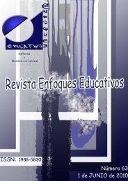 Nº63 01/06/2010 - enfoqueseducativos.es