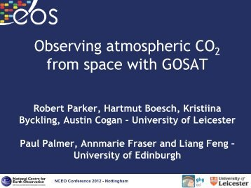 Observing atmospheric CO2 from space with GOSAT