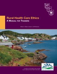 Rural Health Care Ethics: A Manual for Trainers - Dartmouth Medical ...