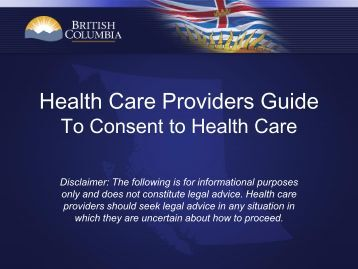 Health Care Providers Guide